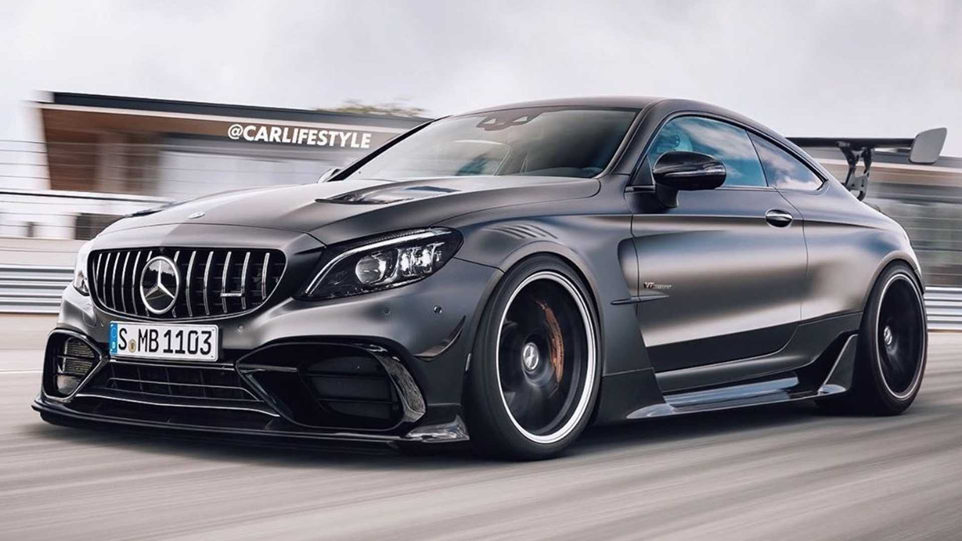 New Mercedes-AMG C63 Coupe Black Series Rendered