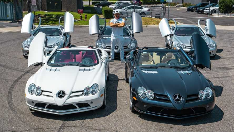 Mercedes-Benz SLR McLaren Owner Takes All Five Of Them Out For A Drive