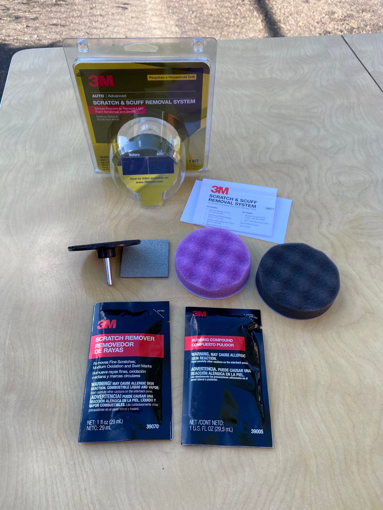 3M Scratch Removal System unboxing photo