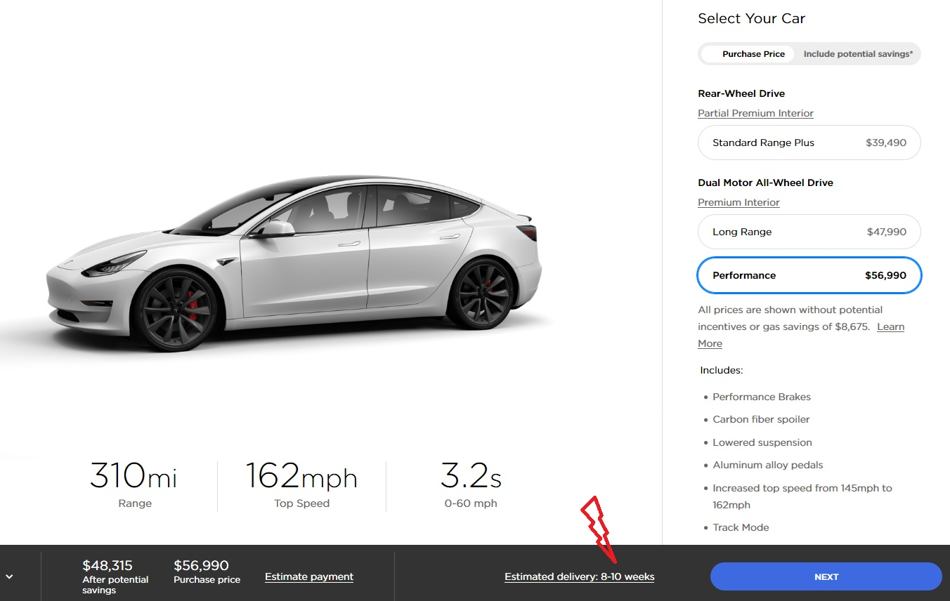 Tesla Model 3 Delivery Time In U.S. Extends As Demand ...