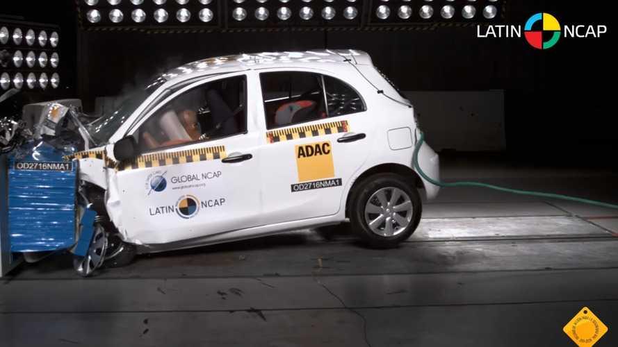 Nissan March e Versa têm nota rebaixada pelo Latin NCAP após auditoria
