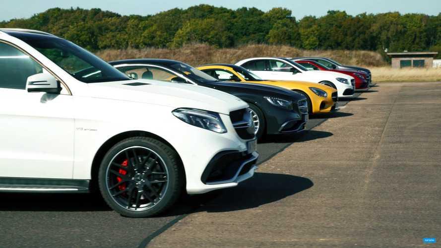 Mercedes-AMG'lerin drag yarışı