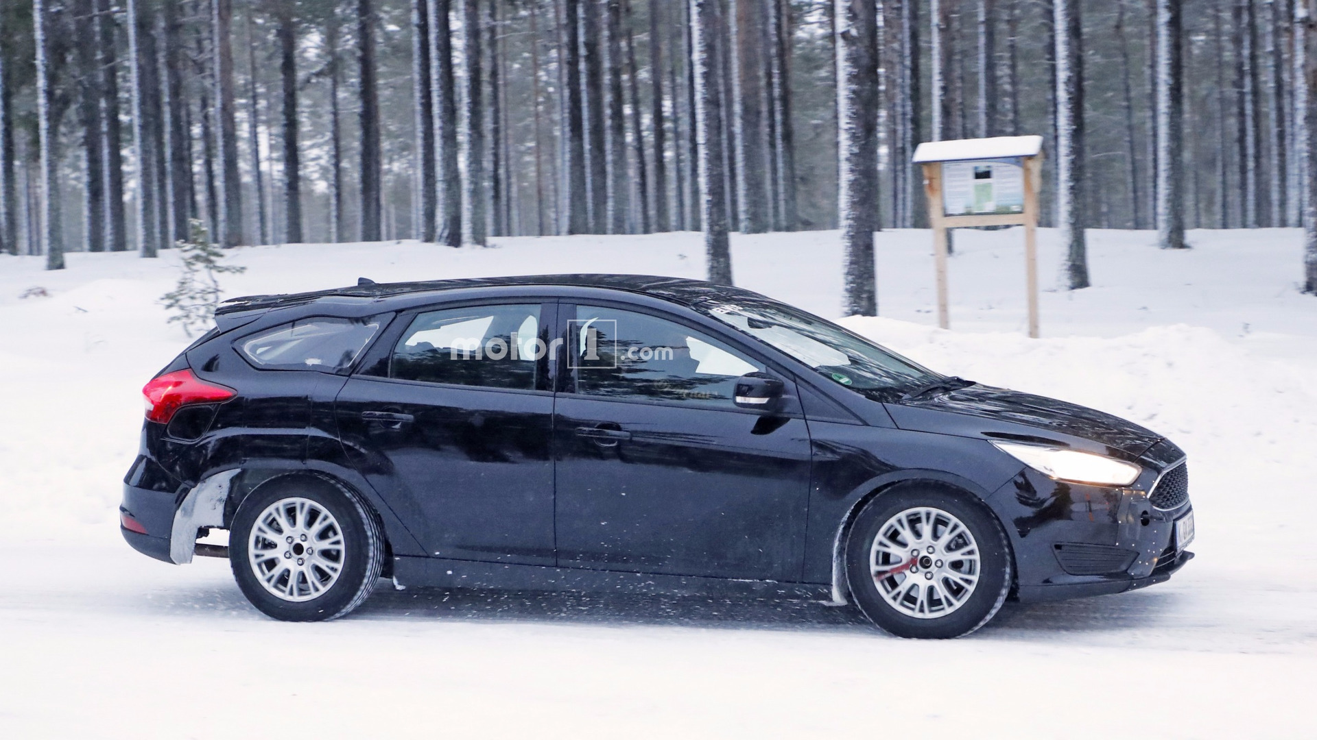 Spied 2019 ford focus wagon test mule looks like its melting