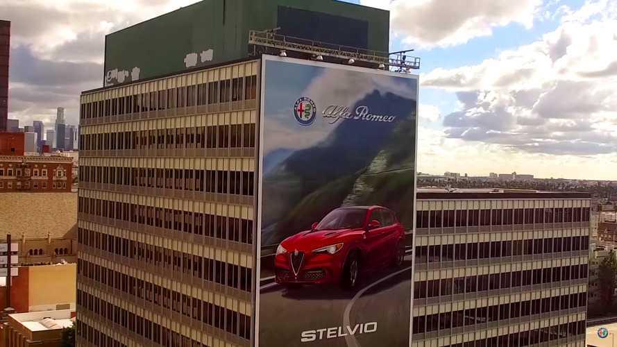 Alfa Romeo Stelvio Quadrifoglio'nun duvar resmi tamamen elle yapıldı