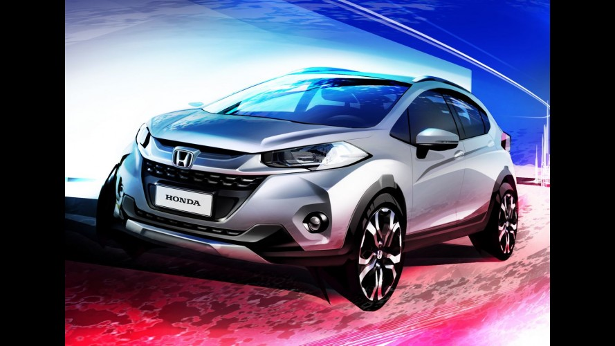 Projeção antecipa o visual do Honda WR-V, crossover derivado do Fit