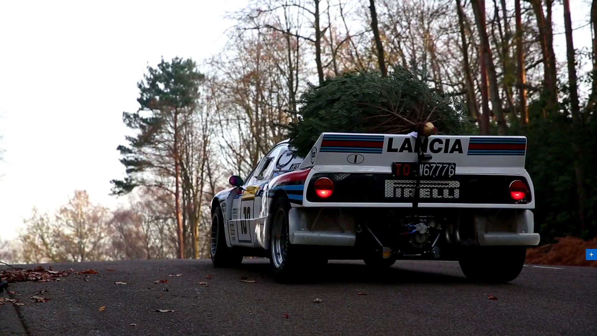 Lancia Group B rally car pressed into holiday service