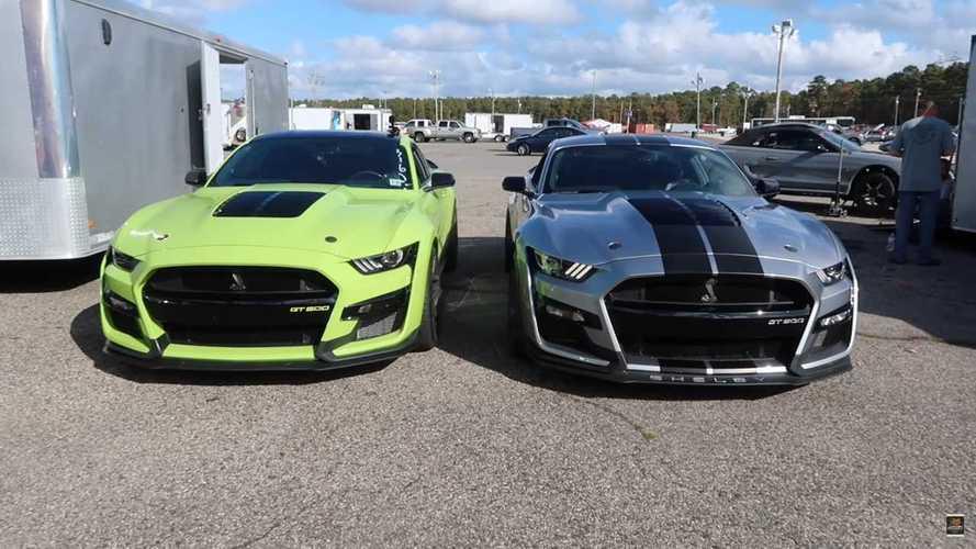 Watch Two Modified Shelby GT500s Drag Race In 2,000-HP Showdown
