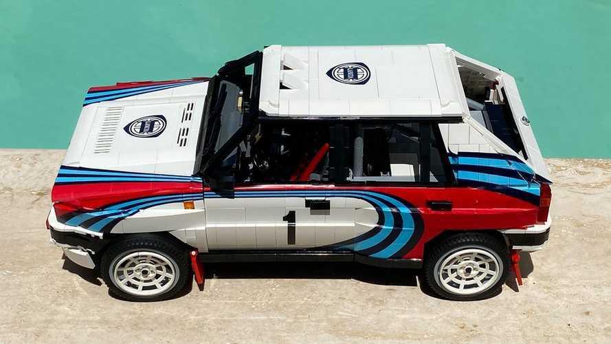 Lancia Delta Integrale, quella da rally è fatta in Lego