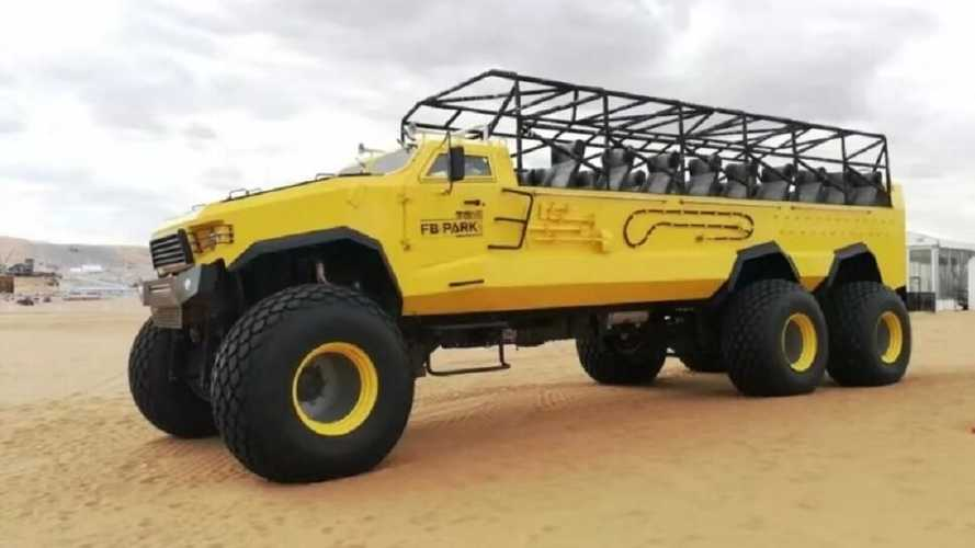 You can buy this 6x6, 23-seat monster from Alibaba for £85,000