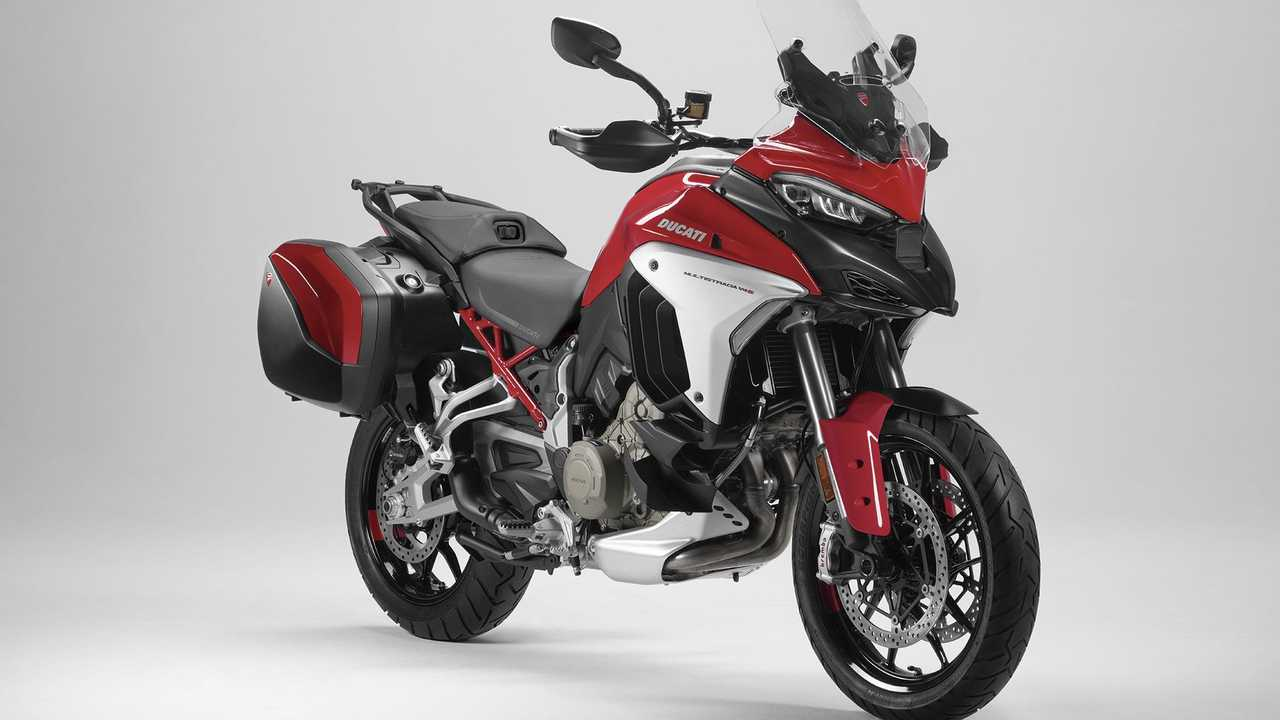2021 Ducati Multistrada V4 S, Ducati Red, Forged wheels, Sidecases