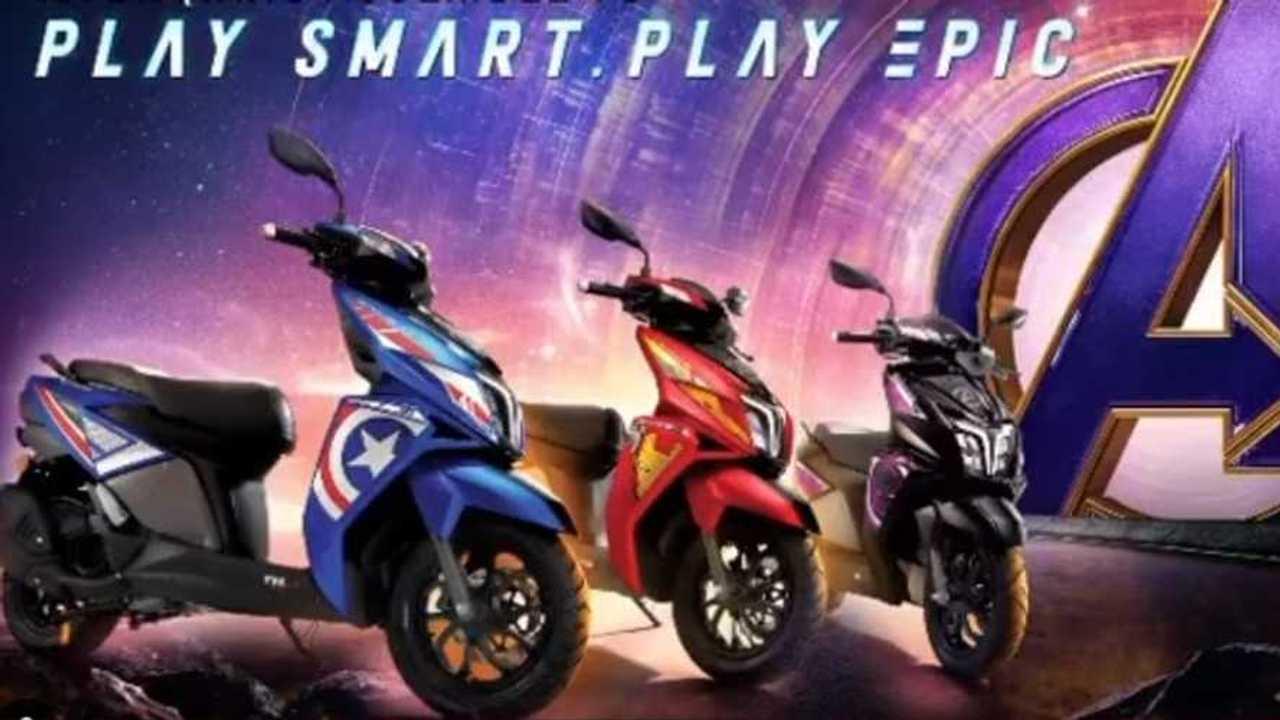 TVS NTorq Marvel Super Squad