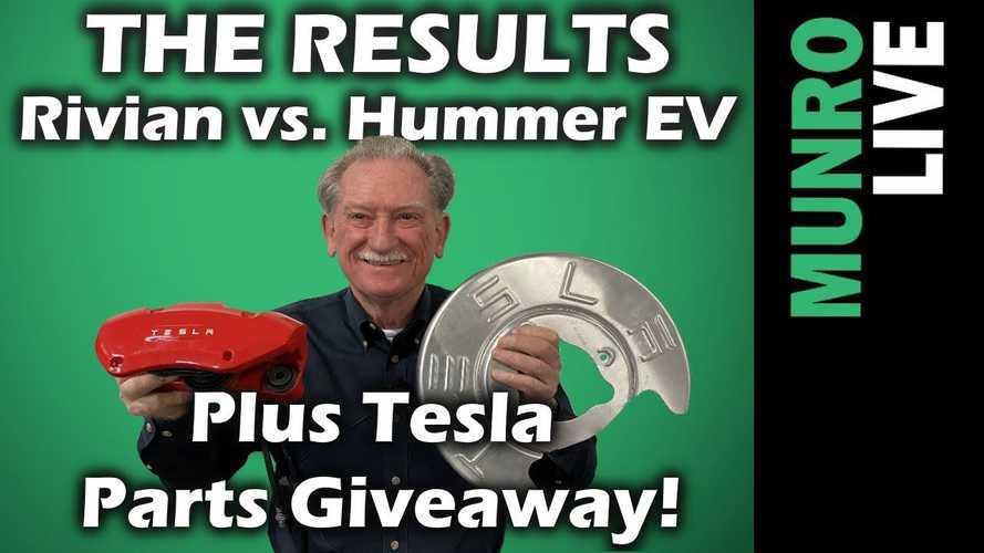 Rivian R1T Vs GMC Hummer EV: Plus Sandy Munro Tesla Parts Giveaway