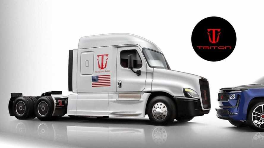 Triton-EV Shows Off Electric-Hydrogen Semi Truck