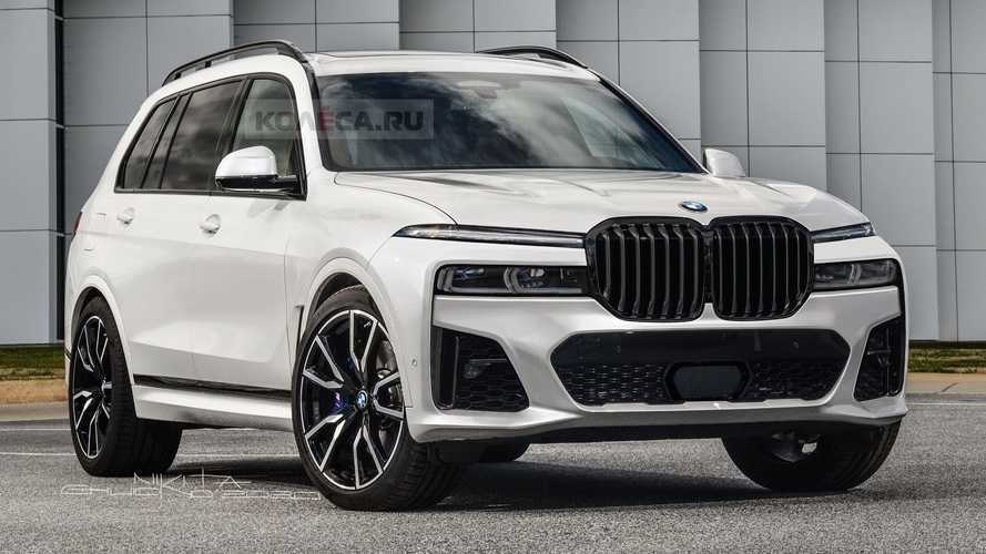 BMW X7 2022 Facelift Renderings