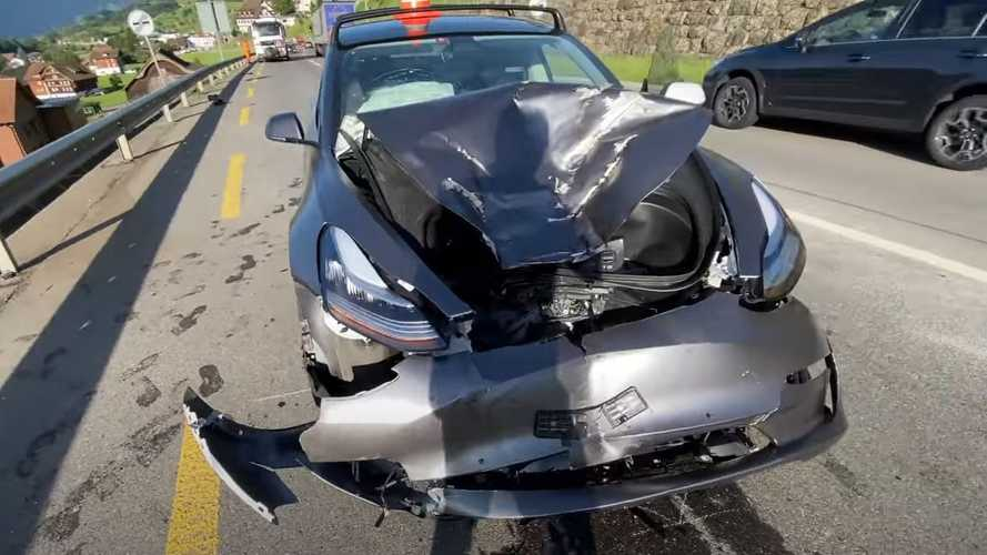 Tesla Model 3 Highway Crash: Driver Walks Away Unscathed