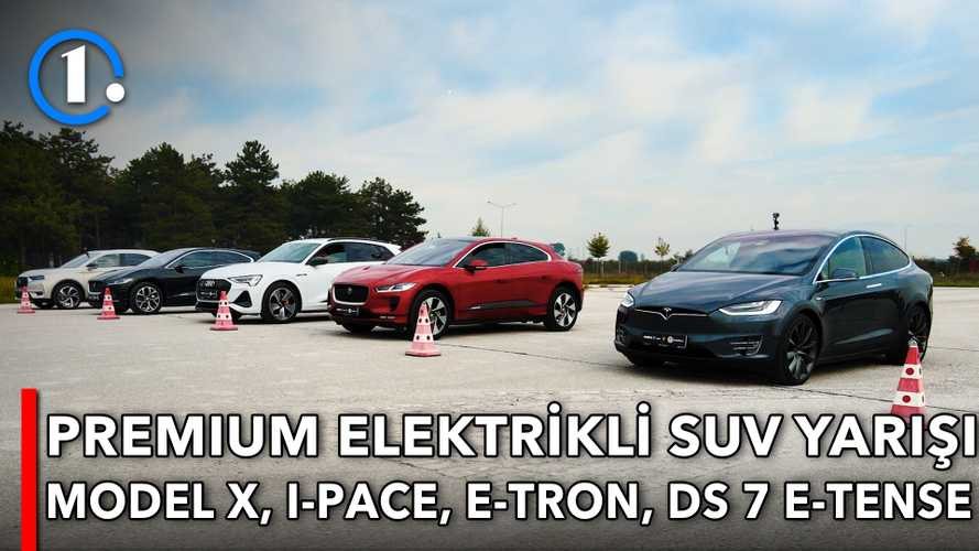 DRAG | Tesla Model X vs Jaguar I-Pace vs Audi e-tron