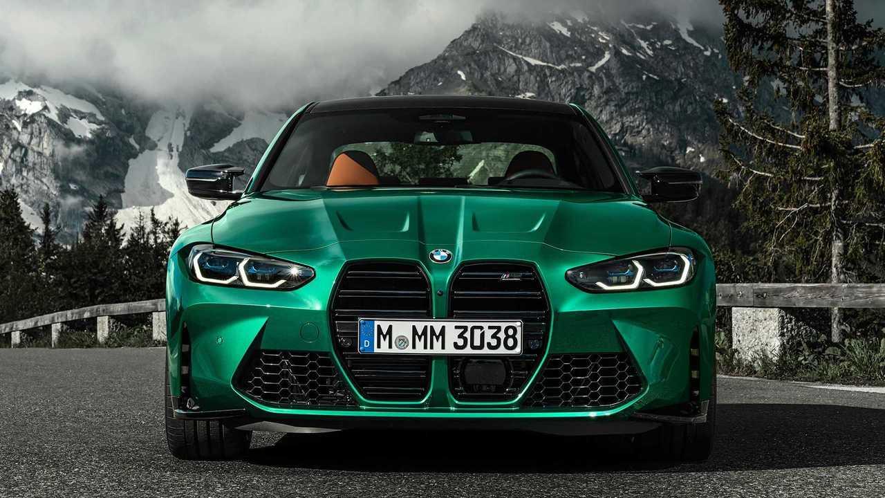 Седан BMW M3 (2020), вид спереди