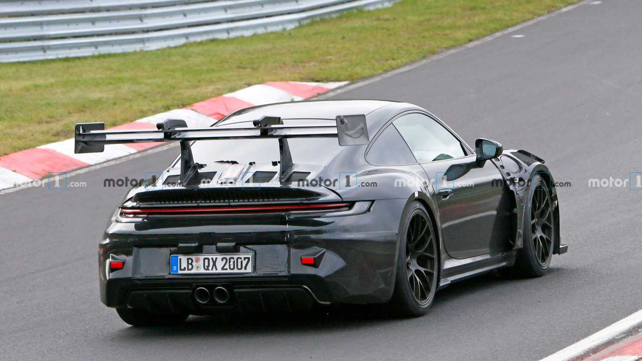Porsche 911 GT3 RS 992 Spy Photo Rear