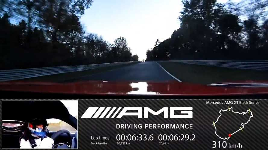 See the full AMG GT Black Series Nurburgring lap record in onboard video