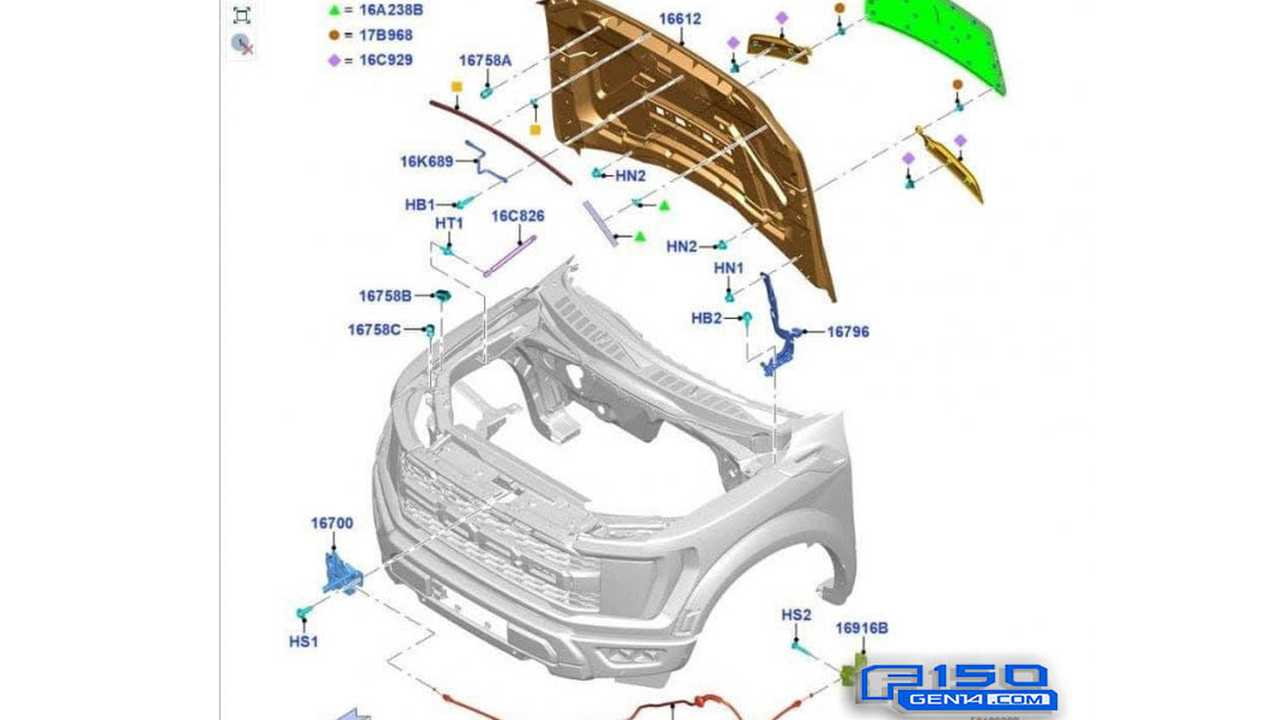 Ford F-150 Raptor Front End Leaked Drawing