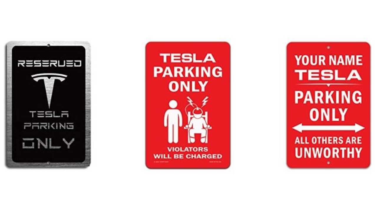 Model 3 parking only signs