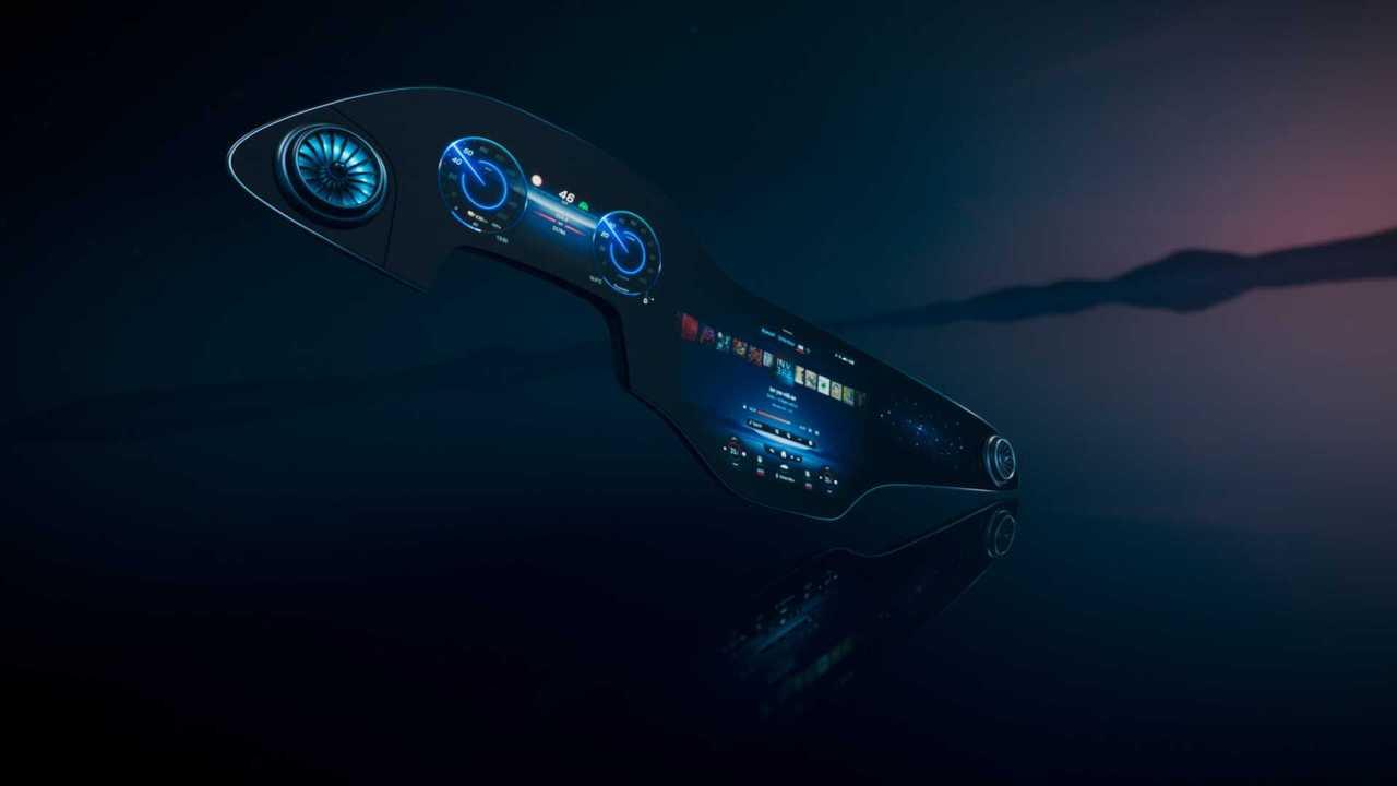 2021 Mercedes-Benz EQS MBUX Hyperscreen Teaser
