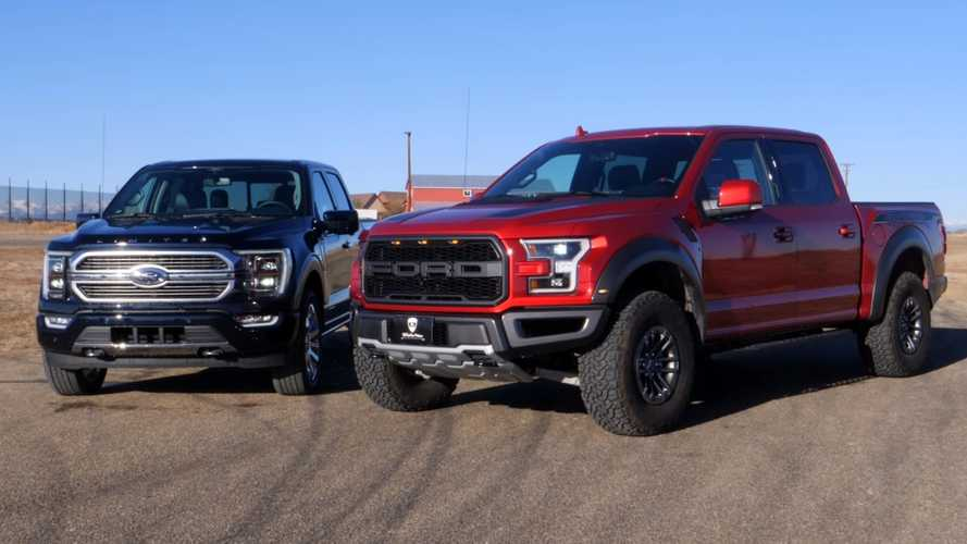 See The 2021 Ford F-150 Hybrid Drag Race The Outgoing F-150 Raptor