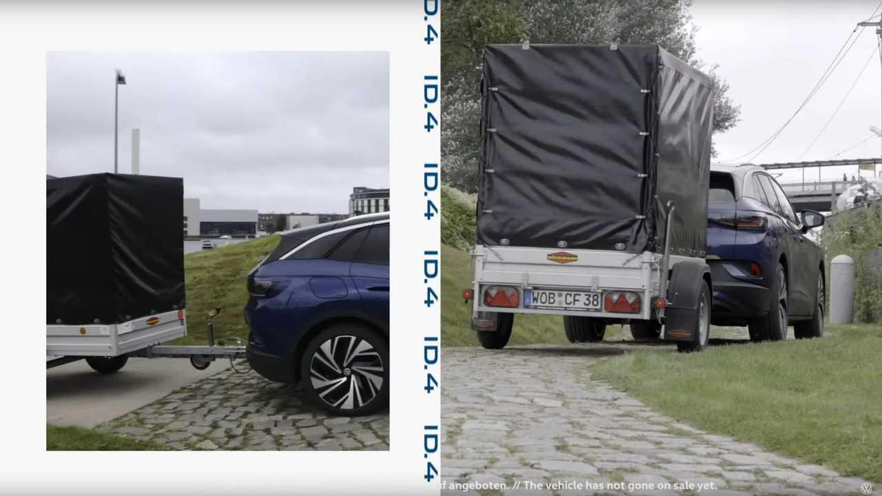 Volkswagen ID.4 camouflaged prototype - towing