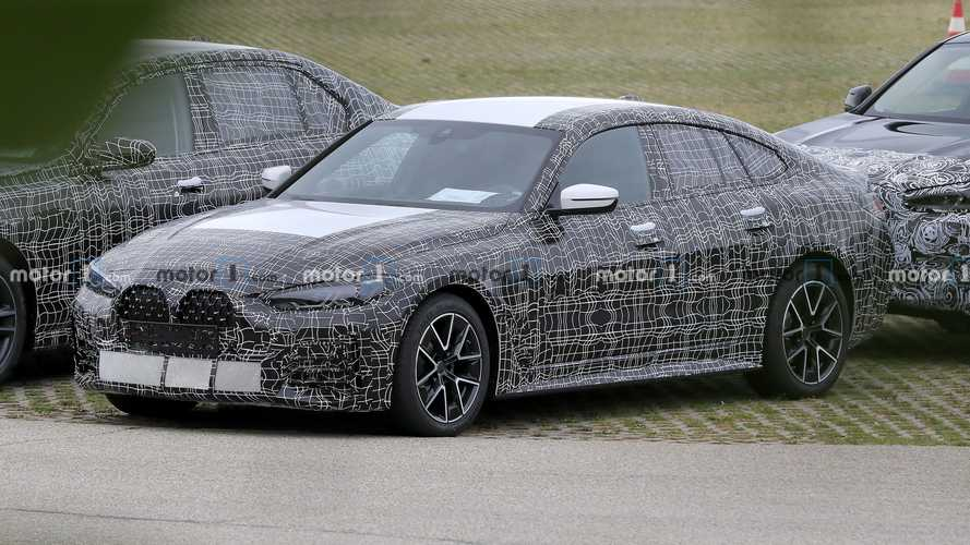 BMW 4 Series Gran Coupe Spied Looking Sinister With Its Grille Showing