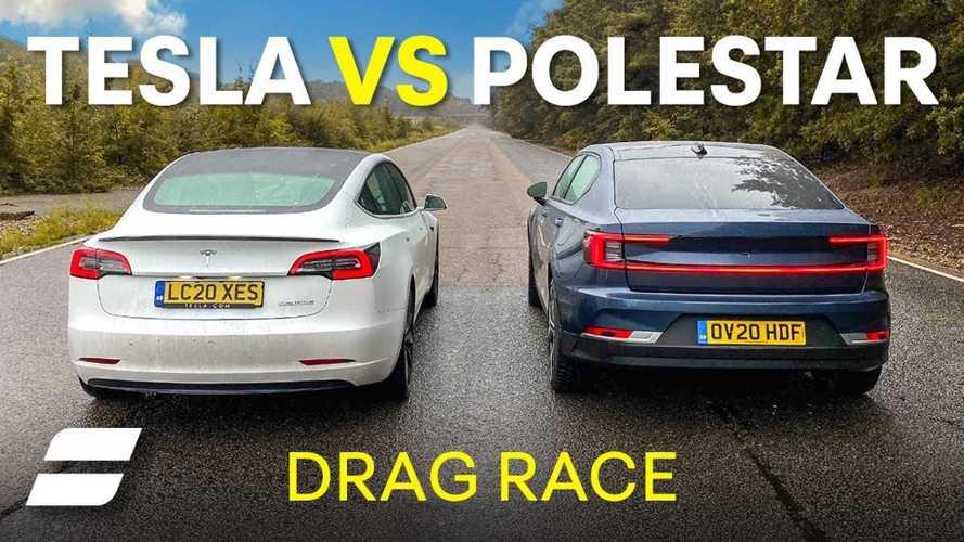 Tesla Model 3 vs Polestar 2: EV drag race, plus unique surprise