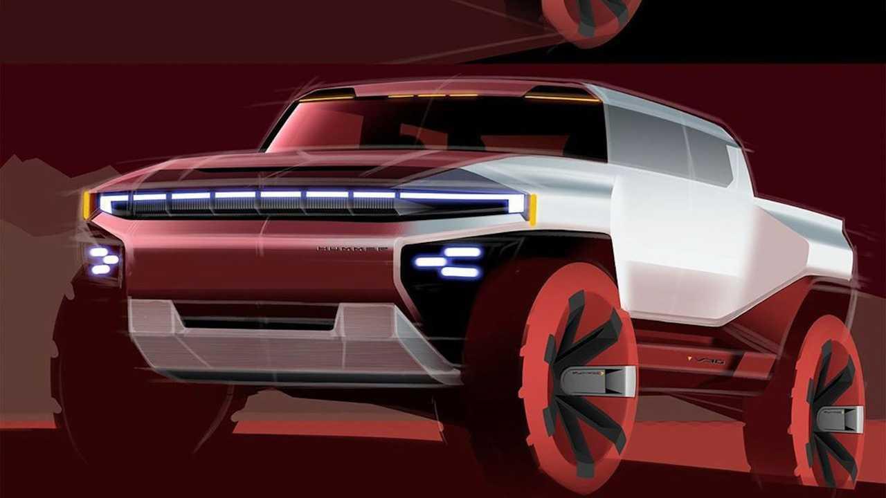 2022 GMC Hummer EV Sketches