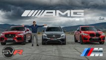 bmw x4 m vs mercedes glc 63 s vs jaguar f pace svr race for suv dominance