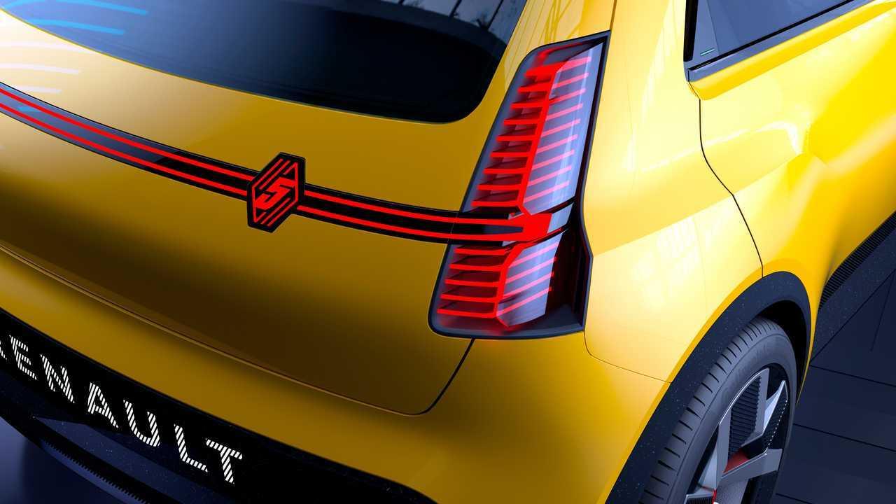 Il faro posteriore di una Renault 5 elettrica