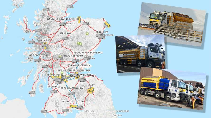 Scotland's gritters have hilarious names, including 'I Want To Break Freeze'