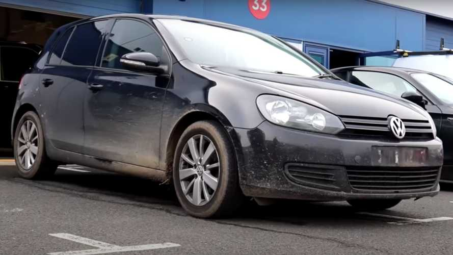 Neglected 234,000-Mile VW Golf Gets The Detailer's Attention It Needs