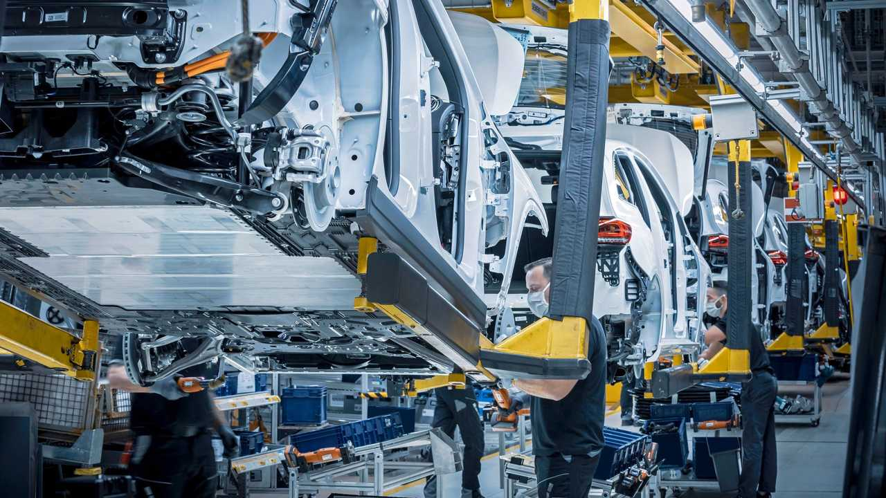 Mercedes-Benz EQA production at the Rastatt plant, Germany