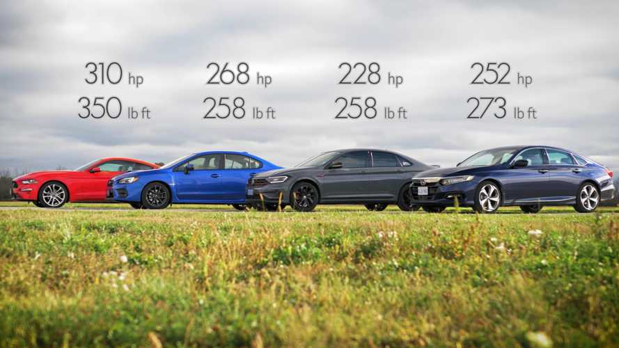 Honda Accord Drag Races Ford Mustang, Subaru WRX, And VW GLI