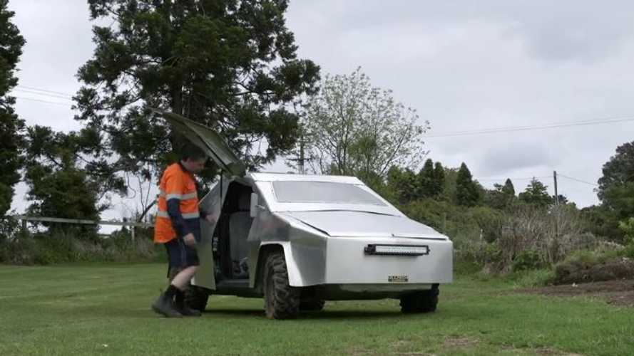 New Zealand Man's DIY Tesla Cybertruck (Toyota Vitz)  Sold For $999