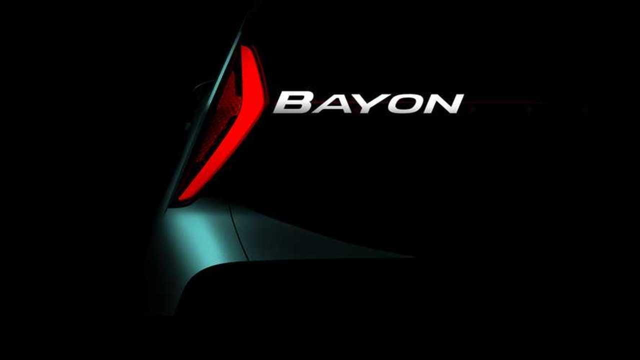 Hyundai Bayon, il teaser