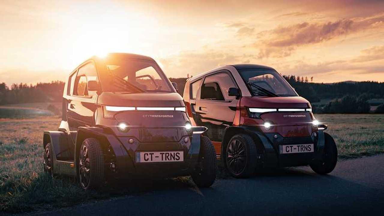 CityTransformer: Elektro-Kleinstfahrzeug mit variabler Spurweite steht auf der IAA