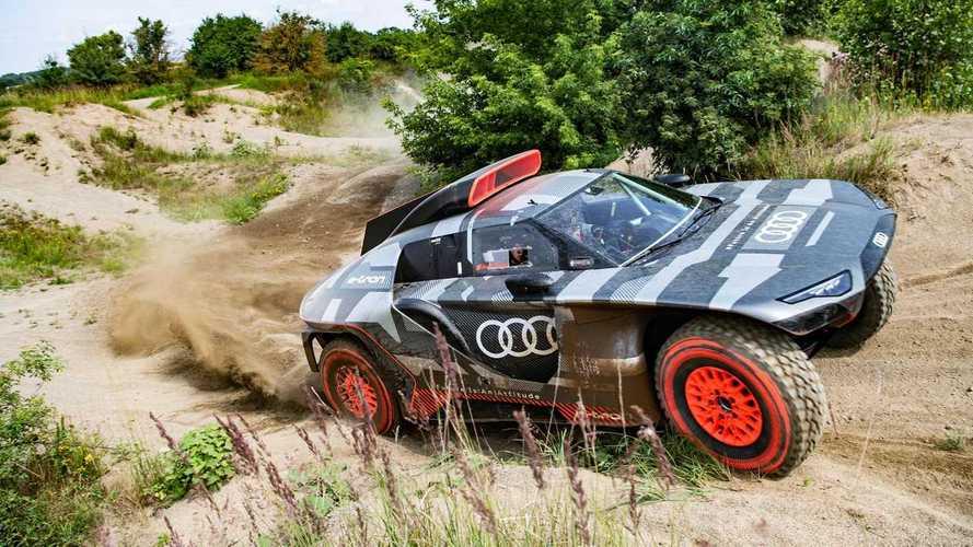 A Dakar-ralira készül az Audi a 680 lóerős elektromos RS Q e-tronnal
