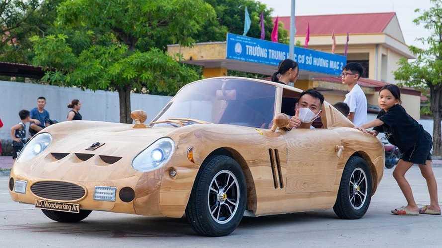 Ferrari 250 GTO обрела деревянную копию во Вьетнаме