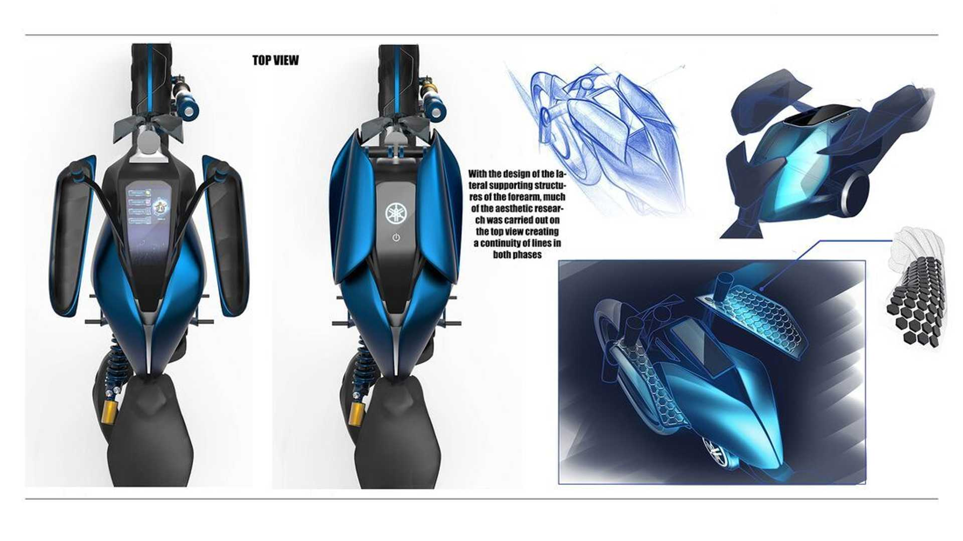 Yamaha Double Y Concept - Top View