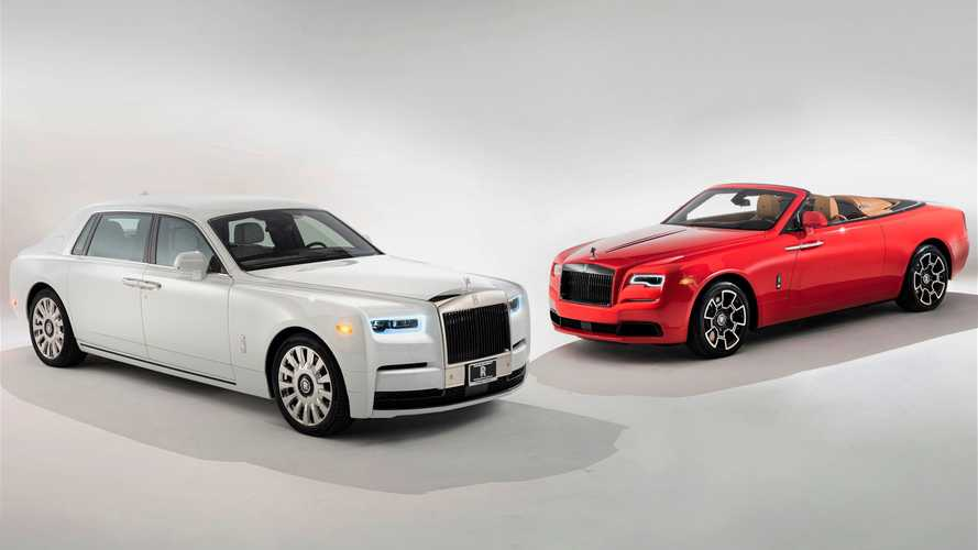 Couple celebrates anniversary with pair of bespoke Rolls-Royces