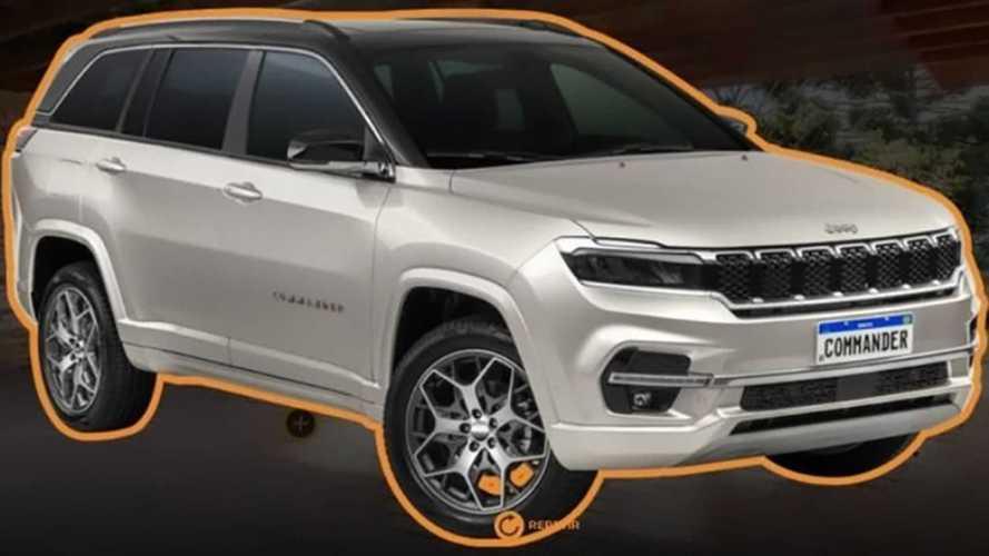 Vazou? Novo Jeep Commander 2022 aparece em material para lojistas