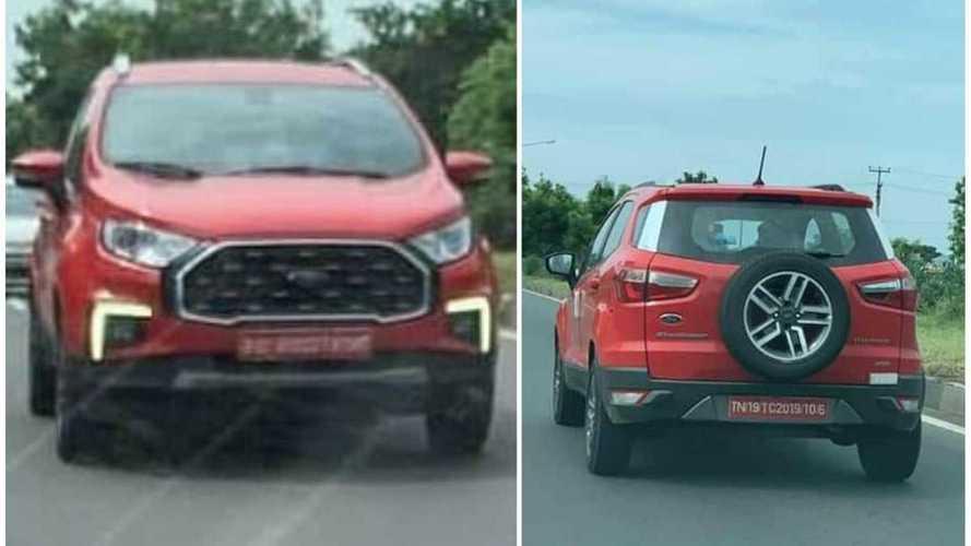 Flagra: Ford EcoSport renovado aparece limpo com visual robusto