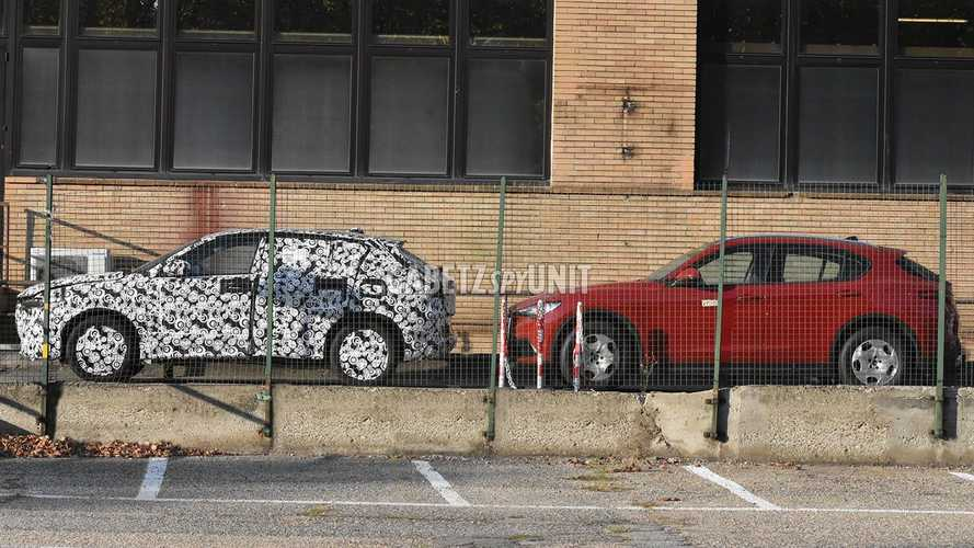 Alfa Romeo Tonale Spied Next To Stelvio Showing Size Difference