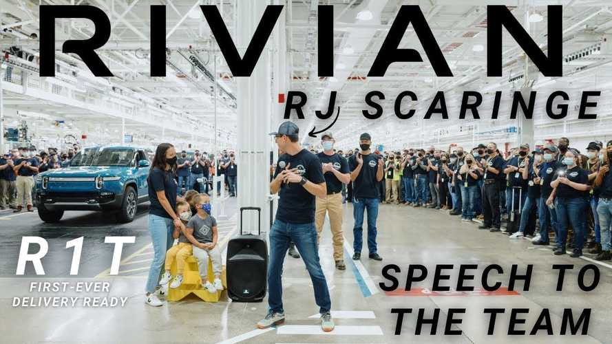Rivian CEO RJ Scaringe Speaks To Team Ahead Of R1T Deliveries