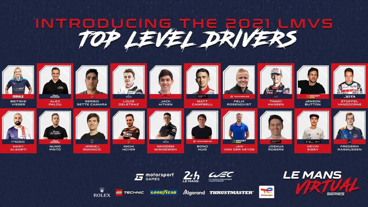 Lista piloti Le Mans Virtual Series 2021-2022