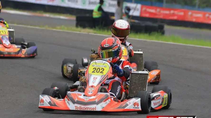Razeen Thalib, Balapan Karting Baru Setahun tapi Sudah Bisa Juara
